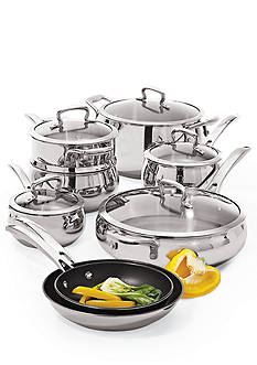 Biltmore® Belly Shaped Stainless Steel 13-Piece Cookware Set