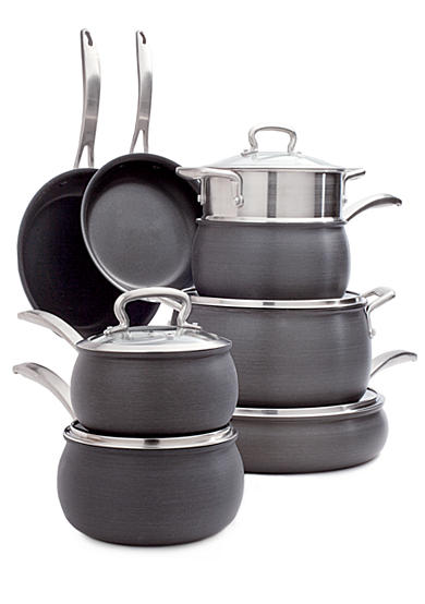 Biltmore® Belly Shaped Hard Anodized Aluminum 13-Piece Cookware Set