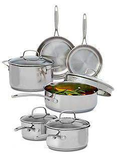 Biltmore® Gourmet Stainless Steel 10-Piece Cookware Set