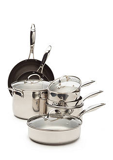 Biltmore Bistro Stainless Steel 10-Piece Cookware Set