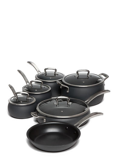 Biltmore® 11-Piece Non-Stick Dishwasher Safe Hard Anodized Belly Cookware Set