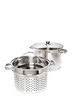 Cooks Tools™ 4-Piece Stainless 8-qt. Stainless Steel Pasta Pot with Steamer