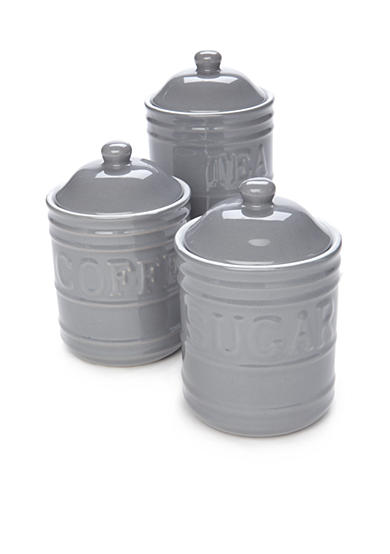 Cooks Tools™ 3-Piece Retro Storage Canisters Set with Lids