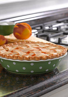 Cooks Tools™ 9-in. Ceramic Dot Pie Plate