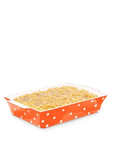 Cooks Tools™ 3-qt. Ceramic Dot Rectangular Baker
