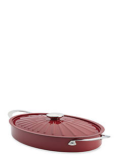 Rachael Ray 5-qt. Nonstick Aluminum Covered Oval Sauteuse