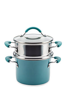 Rachael Ray Cucina Hard Enamel Nonstick 3-qt. Covered Multi-Pot Set with Steamer