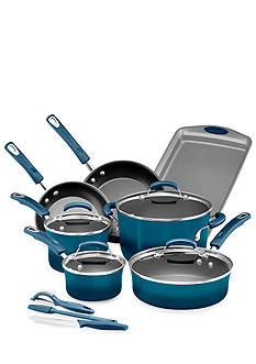Rachael Ray 14-Piece Hard Enamel Non-Stick Cookware Set