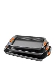 Rachael Ray Yum-o! Nonstick Bakeware 3-Piece Oven Lovin Cookie Pan Set