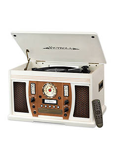 Innovative Technology Aviator 7-in-1 Bluetooth Wooden Music Center