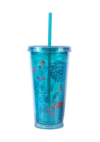 Cool Gear Green Floral Chiller 24-oz. Tumbler - Online Only<br>