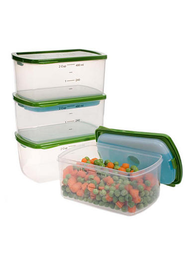 Fit & Fresh Smart Portions 2-Cup Chilled Containers 4-Piece Set - Online Only