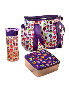 Fit & Fresh Natalie Insulated Lunch Bag Kit with Water Bottle and Chilled Sandwich Container