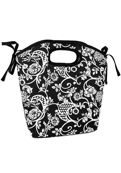 Fit & Fresh Newport Black/White Floral Lunch Bag