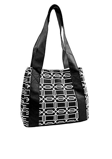 Fit & Fresh Venice Black/White Hexagon Lunch Bag