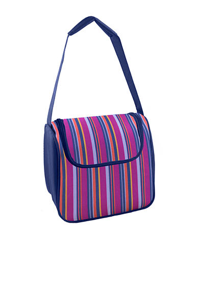 Fit & Fresh Morgan Chiller Pink Stripe Lunch Bag