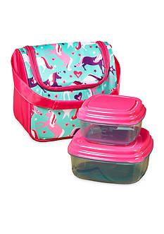 Fit & Fresh Morgan Insulated Lunch Bag Kit with Reusable Container Set