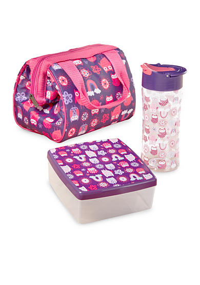 Fit & Fresh Riley Insulated Lunch Bag Kit with Water Bottle and Chilled Sandwich Container