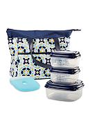Fit & Fresh Oxford Insulated Lunch Bag Kit with