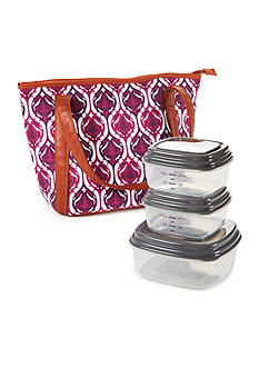 Fit & Fresh Springdale Insulated Lunch Bag Kit with Portion Control Container Set