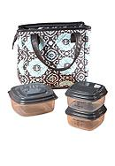 Fit & Fresh Burlington Insulated Lunch Bag Kit