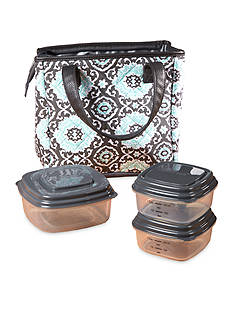 Fit & Fresh Burlington Insulated Lunch Bag Kit with Reusable Container Set