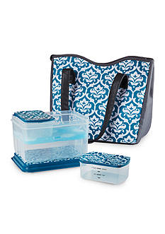 Fit & Fresh Stoneybrook Insulated Lunch Bag Kit with Reusable Container Set