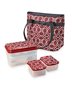 Fit & Fresh Newberry Insulated Lunch Bag Kit with Reusable Container Set