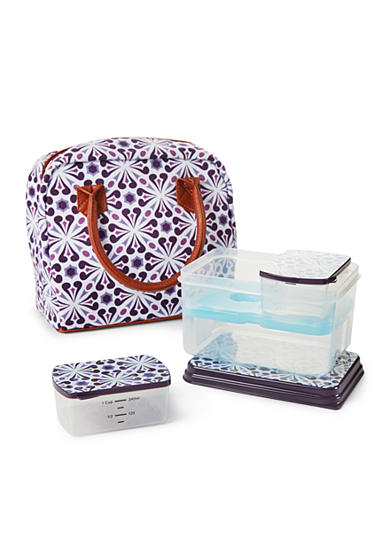 Fit & Fresh Pasadena Insulated Bag Kit with Lunch on the Go Container Set