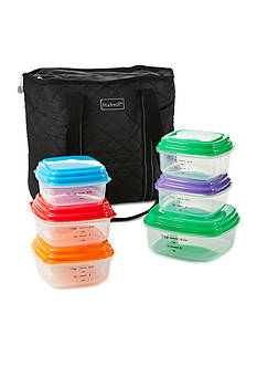 Fit & Fresh Meal Management Quilted Tote with Portion Control Container Set