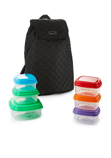 Fit & Fresh Meal Management Quilted Backpack with Portion Control Container Set
