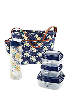 Fit & Fresh Haywood Insulated Lunch Bag Kit with Reusable Container Set and 20-oz. Water Bottle