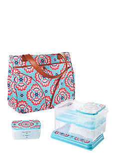 Fit & Fresh Williamsburg Insulated Bag Kit with Lunch on the Go Container Set