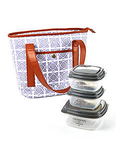 Fit & Fresh Calhoun Insulated Lunch Bag with Portion Control Container Set