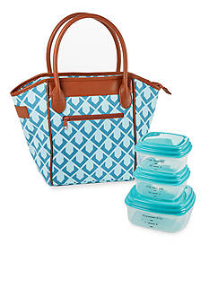 Fit & Fresh Washington Insulated Lunch Bag with Portion Control Container Set