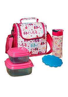 Fit & Fresh Melissa Insulated Lunch Bag Kit with Water Bottle and Reusable Container Set