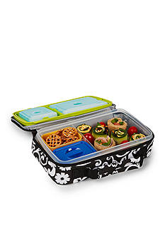 Fit & Fresh Healthy Living Bento Lunch Box Kit with Insulated Bag and Reusable Ice Packs
