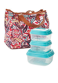 Fit & Fresh Monterrey Insulated Lunch Bag Kit with Portion Control Container Set