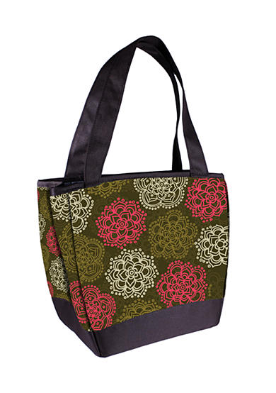 Fit & Fresh Hyannis Olive Floral Lunch Bag with Lunch on the Go Kit