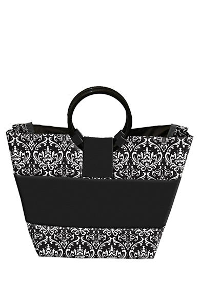 Fit & Fresh Napa Black/White Damask Lunch Bag with Lunch on the Go Kit