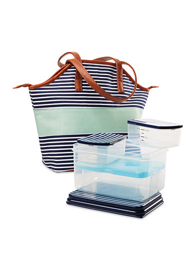 Fit & Fresh Davenport Insulated Bag Kit with Lunch on the Go Container Set