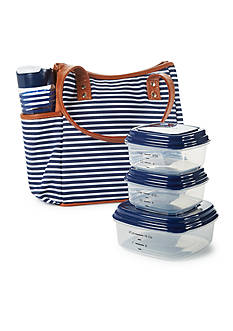 Fit & Fresh Westerly Insulated Lunch Bag Kit with Portion Control Container Set and 20-oz. Water Bottle