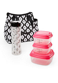 Fit & Fresh Westerly Insulated Lunch Bag Kit with Tritan Water Bottle and Reusable Container Set
