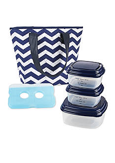 Fit & Fresh Greenville Insulated Lunch Bag Kit with Portion Control Container Set
