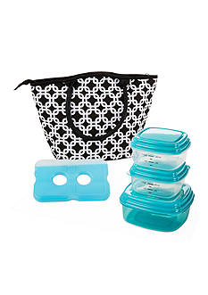Fit & Fresh Santa Ana Insulated Lunch Bag Kit with Portion Control Container Set