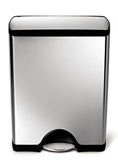 simplehuman 50-L Rectangular Step Trash Can In Fingerprint-Proof Brushed Stainless Steel - Online Only