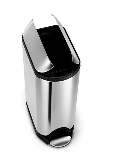Simplehuman 45 Liter Butterfly Step Trash Can Brushed Stainless Belk