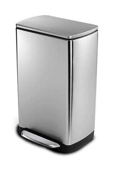 simplehuman 38 Liter Rectangular Step Trash Can - Brushed Stainless