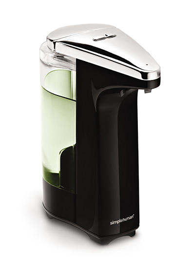 simplehuman Compact Black Sensor Pump with Soap Sample
