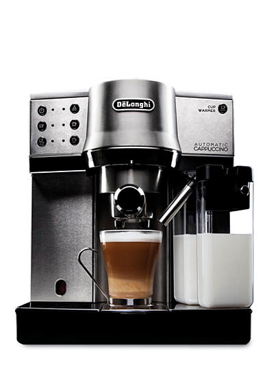 DeLonghi Die-Cast Pump Espresso Machine with Cappuccino Feature - EC860